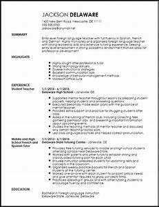 Free Entry Level Foreign Language Teacher Resume Template ...