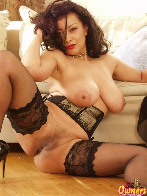 danica british milf with perfect breasts and sexy legs in stockings