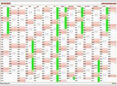 Jahreskalender zum Ausdrucken Download Freewarede