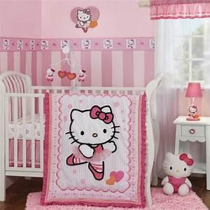 Chambre Hello Kitty : 20 id es douces de d coration de la chambre b b fille ~ Voncanada.com Idées de Décoration