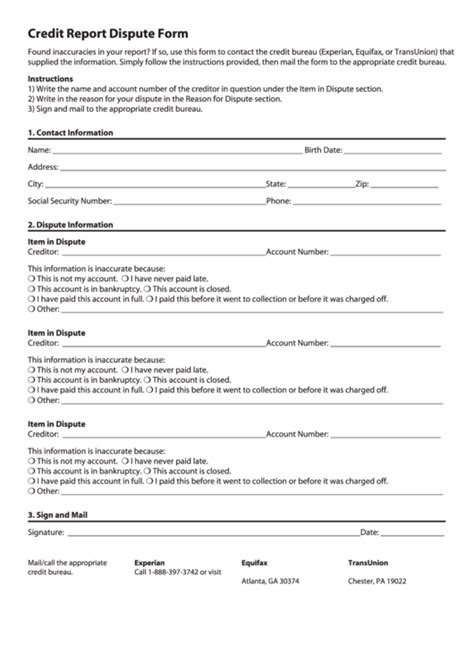 Check spelling or type a new query. Top 7 Equifax Dispute Form Templates free to download in PDF format