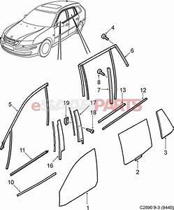 12756536  Saab Window Seal  Molding