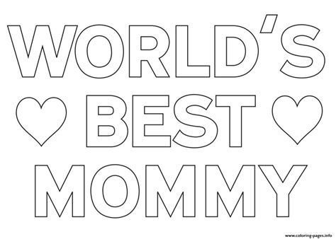 Best Mom Coloring Pages Coloring Page