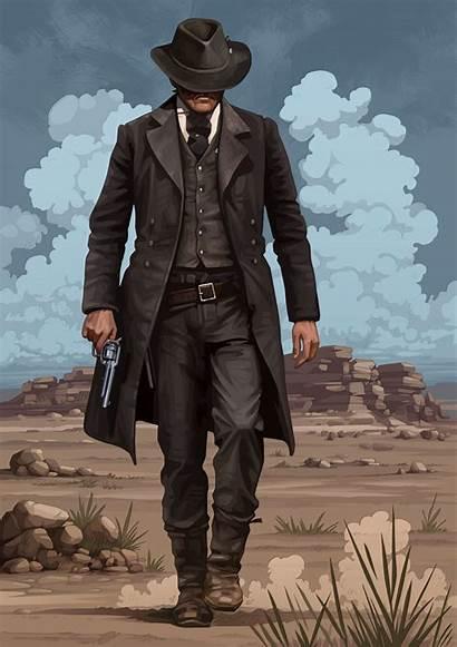 Dead Redemption Gunslinger Cowboy Western West Coat