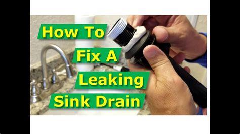 fix bathroom sink drain leaks  gasket