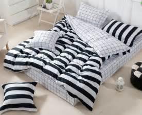 3d black and white striped comforter set sets queen full size bedspread duvet cover sheets bed jpg