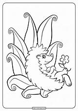 Hedgehog Coloring Printable Forest Sonic Pdf Enemies sketch template