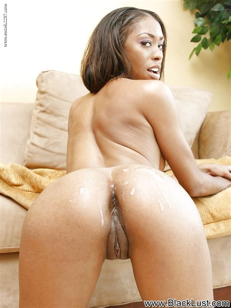 Skinny Ebony Doxy With Shaved Cunt Gets Fucked And Jizzed