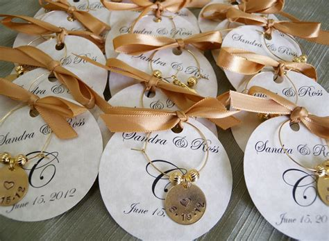 Wedding Favors Personalized Wine Charms Custom By