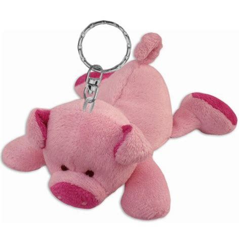 personalized piggy pig plush keychain stuffed by puzzled