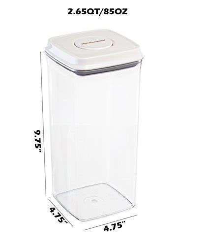 Food Storage Containers  Airtight Seals With Push Button