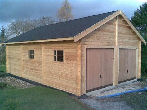 garage bois 60 m²