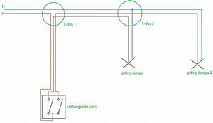 Instalasi Pemasangan Saklar Ganda  Seri Dengan Piting Lampu