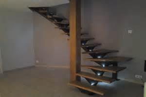 Fabriquer Escalier Limon Central by Escalier Limon Central En Fer