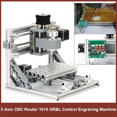 diy cnc router kit usb mini  axis wood carving engraving machine pcb milling ebay