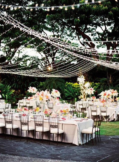 outdoor wedding reception ideas dipped in lace