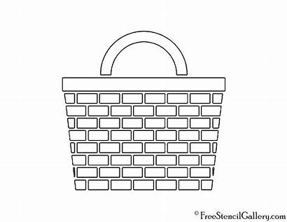 Fireplace Coloring Basket Stencil Picnic Pages Household