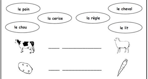 Learn Basic FRENCH VOCABULARY with School WORKSHEET ...