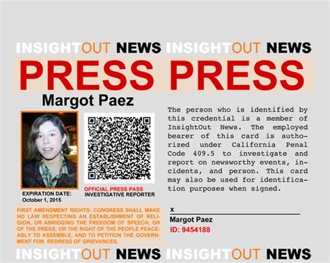 press pass template 187 how to be a diy journalist part 3 show me your press pass ma am insightout news