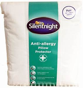 silentnight pair of pillow protectors choice of anti With anti allergy pillow protector