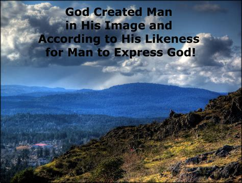 god created in his image and according to his likeness