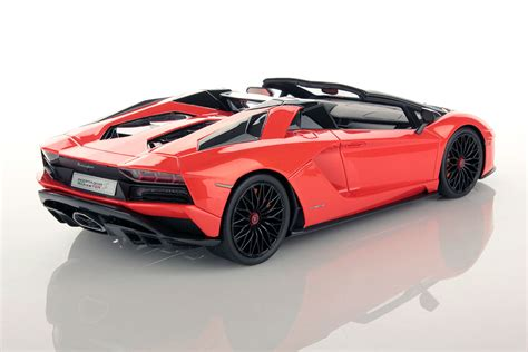 lamborghini aventador s roadster orange lamborghini aventador s roadster 1 18 mr collection models