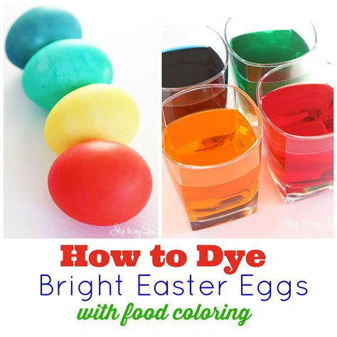 cuisine color how to for dying easter eggs with food coloring
