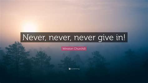 winston churchill quote    give