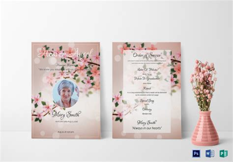 Free Funeral Announcement Templates - Costumepartyrun