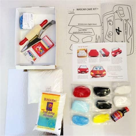 nas car cake kit nascar boys birthday cake recipe kit