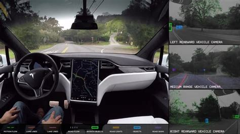 tesla  driving car sees  cleantechnica