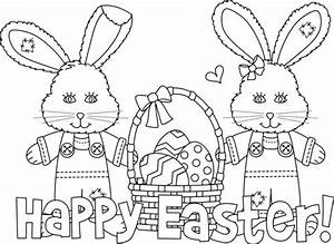 Happy Easter Coloring Pages - GetColoringPages.com