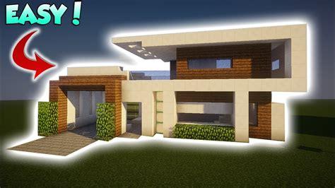 minecraft medium modern tutorial   build  modern house youtube