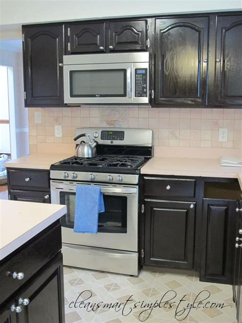 refinishing stained kitchen cabinets clean smart simple style gel stain kitchen makeover
