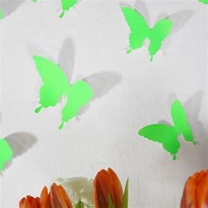 3d Schmetterlinge Wand : wandtattoo 3d schmetterlinge neon gr n ~ Whattoseeinmadrid.com Haus und Dekorationen
