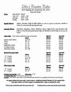 cake price list template 28 images pin checklist With cake price list template