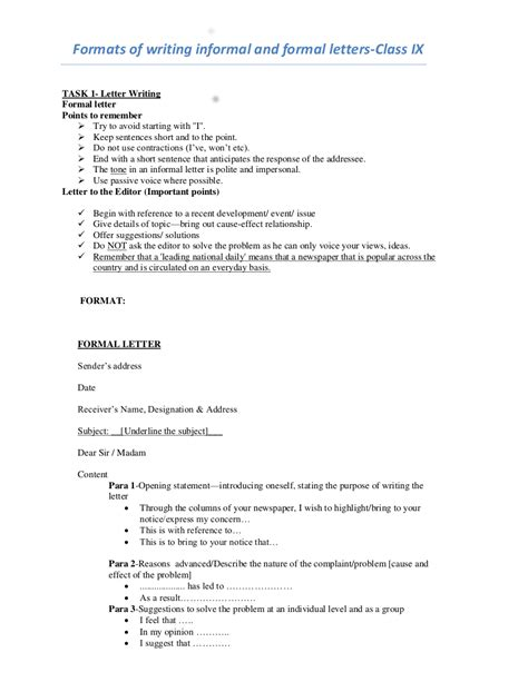 formal letter writing examples   examples