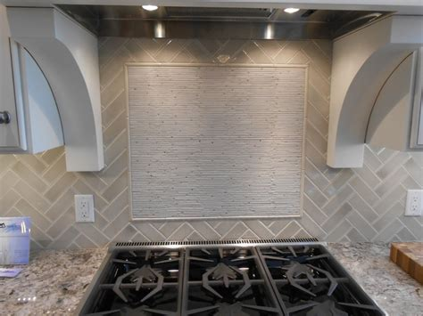 herringbone tile  accent feature  stove backsplash designs bathroom herringbone