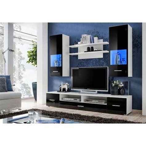 decoration meuble tv design mural peker noir et blanc pas cher achat vente meubles