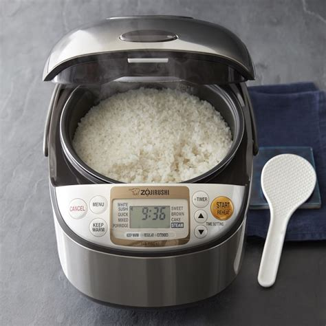 rice in rice cooker zojirushi rice cooker williams sonoma