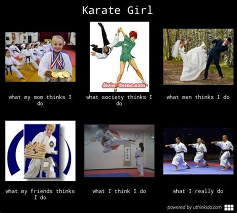 Kickboxing Meme - karate girl what people think i do what i really do running belts pinterest people