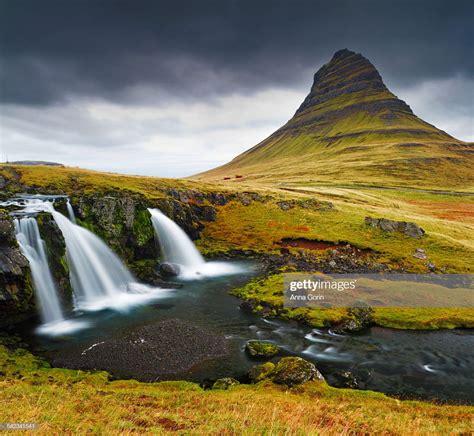 Kirkjufell Mountain And Waterfall Iceland Stock Photo
