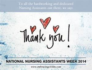 Happy CNA Day a... Nursing Assistant Week Quotes