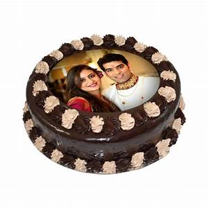 Buy Delicious Chocolate Photo Cake - Personalized Cakes - Gift My Emotions