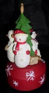 hallmark musical christmas tree hallmark merry snowmen 4 revolving christmas tree 4253
