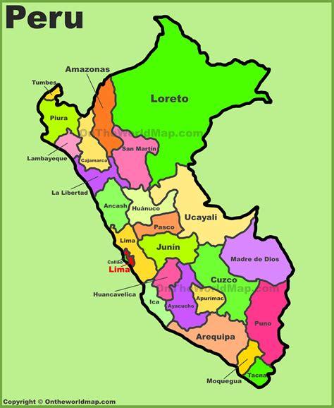 administrative divisions map  peru