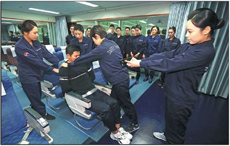 Crew Members Of Korean Air Receive Training On How To