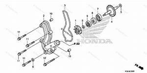 Honda Motorcycle 2009 Oem Parts Diagram For Water Pump