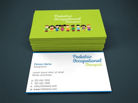 occupational therapy business cards arts arts