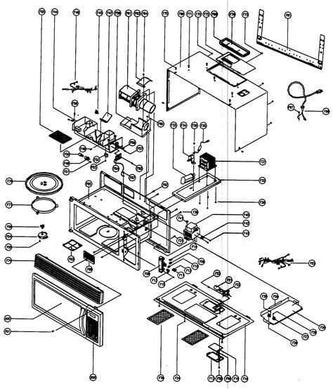 Ge Wiring Schematic Jvm 2 by Cabinet Parts Diagram Parts List For Model Mco160ub